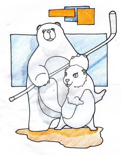 polar bear and beaver drawing